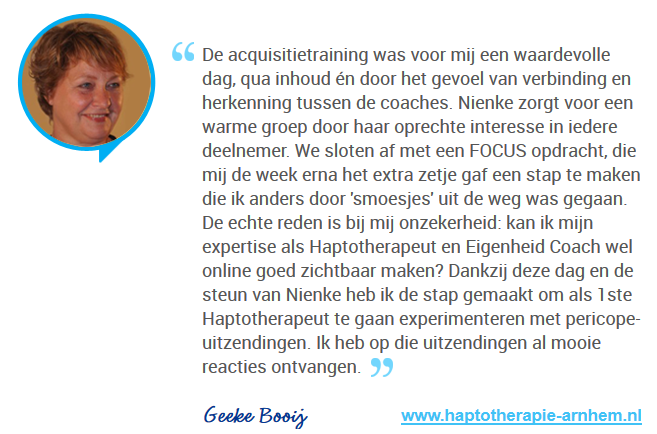 Review Referentie Acquisitietraining Geeke Booij