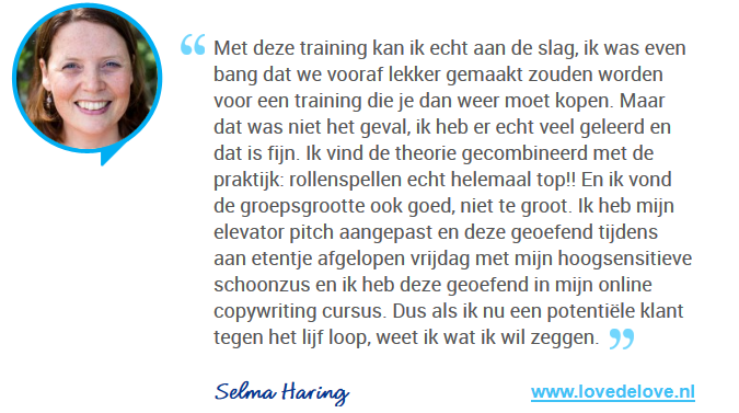 Review Referentie Acquisitietraining Selma Haring
